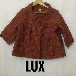 LUX by Urban Outfitters Jacket Burgundy Gold Sz M